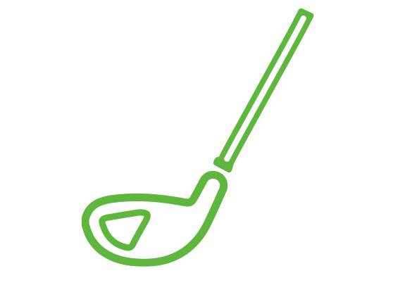 Cesped Artificial Golf Icono